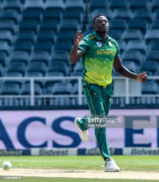 Kagiso Rabada of South Africa during the 1st Momentum ODI match between South Africa and Sri Lanka at Bidvest Wanderers Stadium on March 03 2019 in...