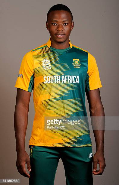 Kagiso Rabada of South Africa poses during the official photocall for the ICC Twenty20 World on March 11 2016 in Mumbai India