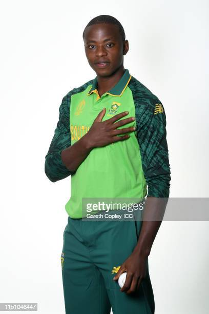 Kagiso Rabada of South Africa poses for a portrait prior to the ICC Cricket World Cup 2019 at on May 22, 2019 in Cardiff, Wales.