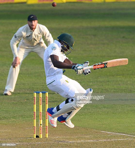 Kagiso Rabada of the Proteas during day 1 of the 1st Sunfoil International Test match between South Africa and New Zealand at Sahara Stadium...