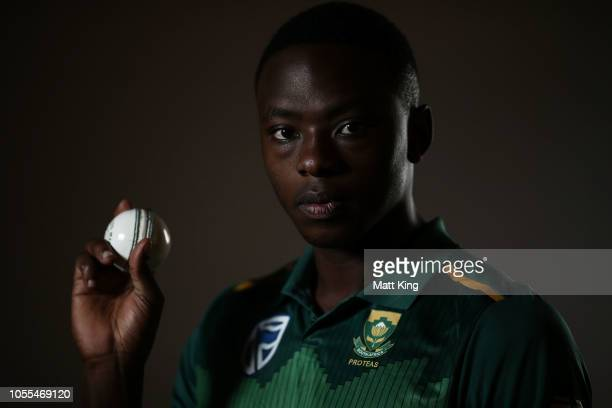 Kagiso Rabada poses during the South Africa ODI / T20 headshots session on October 30, 2018 in Canberra, Australia.