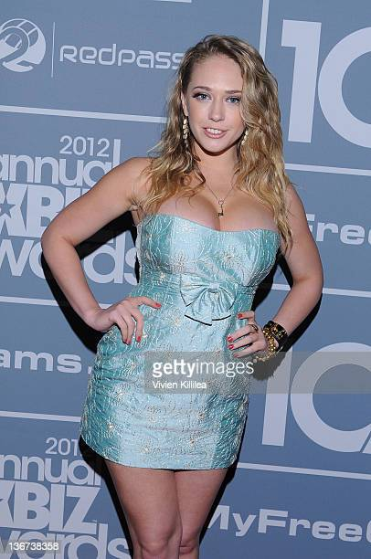 Kagney Linn Karter attends the 10th Annual XBIZ Awards at The Barker Hanger on January 10, 2012 in Santa Monica, California.