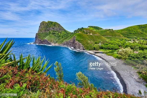 kahakuloa head and bay,maui,hawaii,usa - マウイ島 ストックフォトと画像