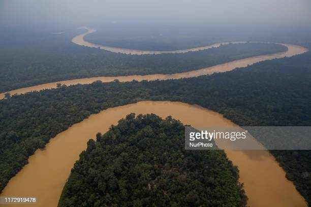 Kahayan River is pictured as smog covers the area due to the forest fire in Palangka Raya Central Kalimantan province Indonesia October 1 2019...