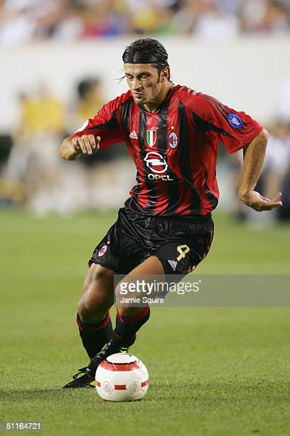 Kahka Kaladze of AC Milan in action during the Champions World Series game at Lincoln Financial Field on August 2 2004 in Philadelphia Pennsylvania...