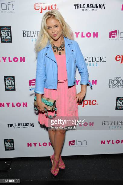 Kahl arrives at the NYLON Magazine June/July Music Issue Launch Party With Shirley Manson at The Roxy Theatre on May 30 2012 in West Hollywood...