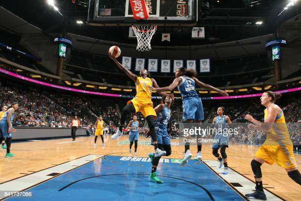 Kahleah Copper of the Chicago Sky goes for a lay up against the Minnesota Lynx on September 1 2017 at Xcel Energy Center in St Paul Minnesota NOTE TO...