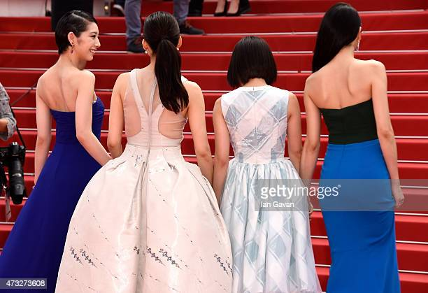 Kaho Haruka Ayase Suzu Hirose and Masami Nagasawa attend the Premiere of 'Umimachi Diary' during the 68th annual Cannes Film Festival on May 14 2015...