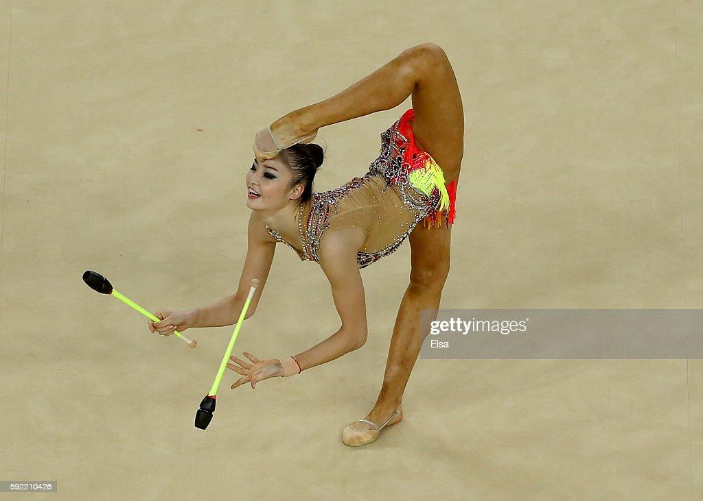 Gymnastics - Rhythmic - Olympics: Day 14 : News Photo