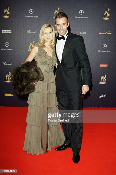 Kai and Ilke Pflaume arrive at the Bambi Awards 2008 on November 27 2008 in Offenburg Germany