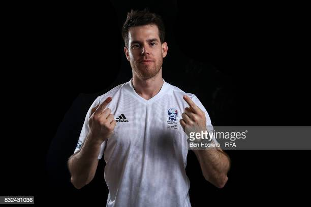"""Kai """"Deto"""" Wollin of Germany poses for a portrait ahead of the FIFA Interactive World Cup 2017 on August 15, 2017 in London, England."""