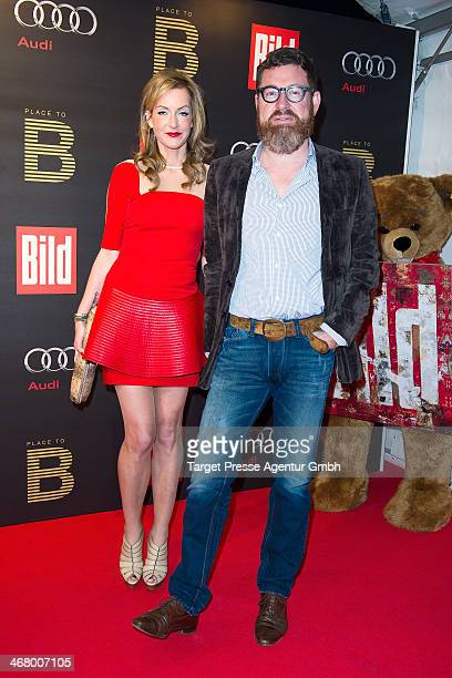 Kai Diekmann and Katja Kessler attend the BILD 'Place to B' Party at Grill Royal on February 8 2014 in Berlin Germany