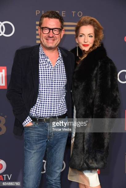Kai Diekmann and Katja Kessler attend the PLACE TO B Party at Borchardt on February 11 2017 in Berlin Germany