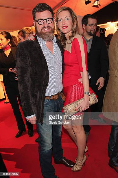 Kai Diekmann and wife Katja Kessler attend the Bild 'Place to B' Party during the 64th Berlinale International Film Festival on February 8 2014 in...