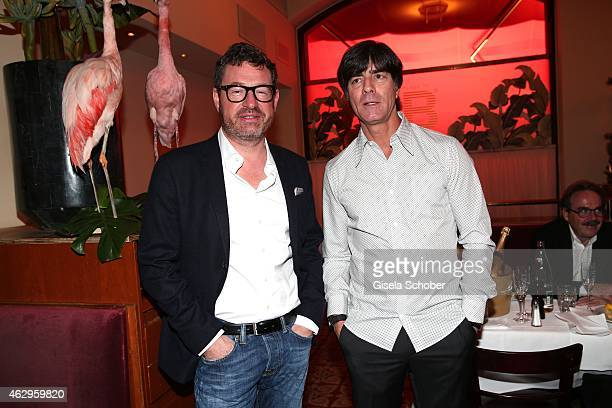 Kai Diekmann Joachim Loew during the Bild 'Place to B' Party at Borchardt Restaurant on February 7 2015 in Berlin Germany