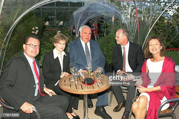 Kai Diekmann Maike Richter Helmut Kohl Rudolf Scharping And wife Kristina Gräfin Pilati at BILD Summer Festival In Berlin On 280605