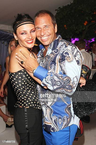 Kai Ebel And His Wife Mila at the Island Island Party Meets in Kampen In Local Pony On The Island of Sylt