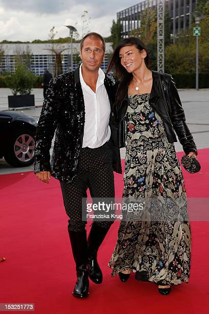 Kai Ebel and his wife Milan Wiegand attend the German TV Awards 2012 at Coloneum on October 2 2012 in Cologne Germany