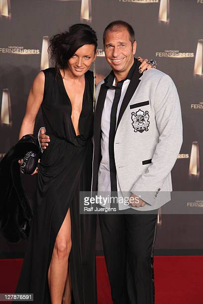 Kai Ebel and his wife Milla attend the German TV Award 2011 at Coloneum on October 2 2011 in Cologne Germany
