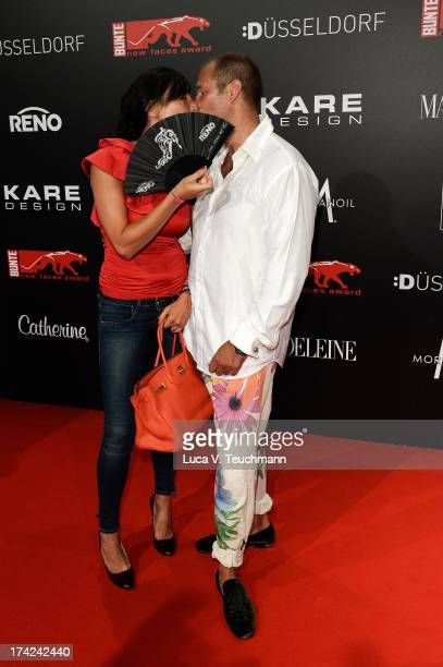 Kai Ebel and Milla Wiegand attend the New Faces Award Fashion 2013 at Rheinterrasse on July 22 2013 in Duesseldorf Germany