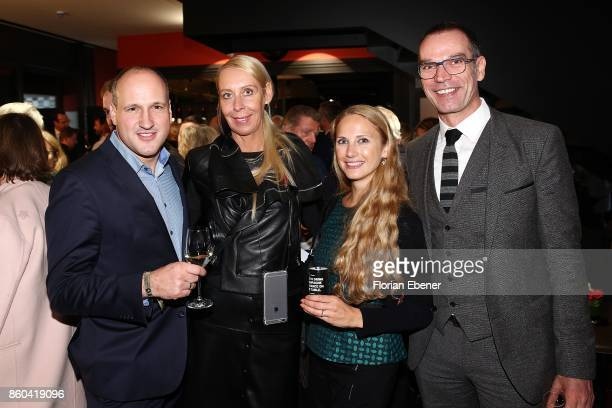 Kai Fischer Christine Kubatta Franka Hellfeier and Uwe Kehrmann attend the Housewarming Party at Andreas Quartier GmbH on October 11 2017 in...