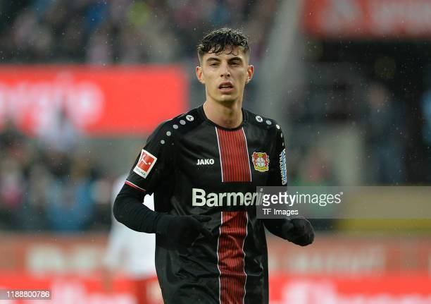 Kai Havertz of Bayer 04 Leverkusen looks on during the Bundesliga match between 1 FC Koeln and Bayer 04 Leverkusen at RheinEnergieStadion on December...