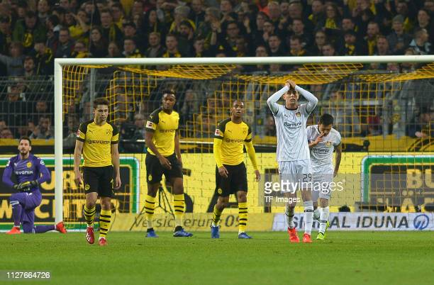 Kai Havertz of Bayer Leverkusen looks dejected during the Bundesliga match between Borussia Dortmund and Bayer 04 Leverkusen at Signal Iduna Park on...