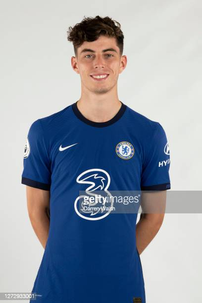 Kai Havertz of Chelsea during a Chelsea Media Day at Chelsea Training Ground on September 11, 2020 in Cobham, England.