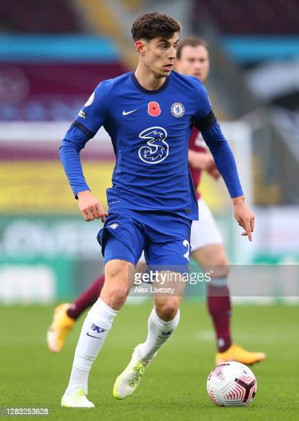 Kai Havertz of Chelsea during the Premier League match between Burnley and Chelsea at Turf Moor on October 31 2020 in Burnley England Sporting...