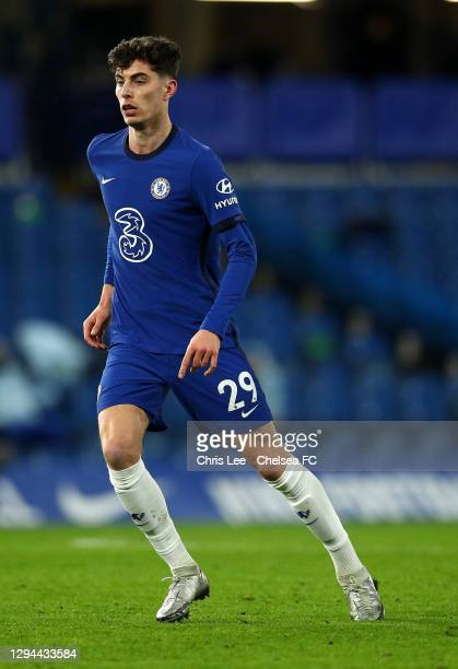 Kai Havertz of Chelsea in action during the Premier League match between Chelsea and Manchester City at Stamford Bridge on January 03, 2021 in...