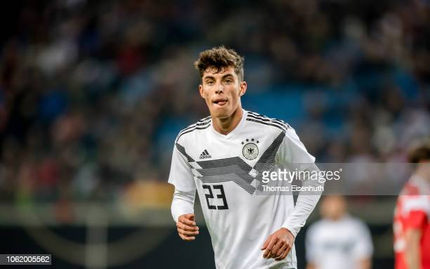 Kai Havertz of Germany looks on during the international friendly match between Germany and Russia at Red Bull Arena on November 15 2018 in Leipzig...