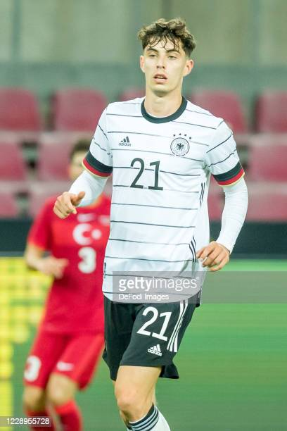 Kai Havertz of Germany looks on during the international friendly match between Germany and Turkey at RheinEnergieStadion on October 7, 2020 in...