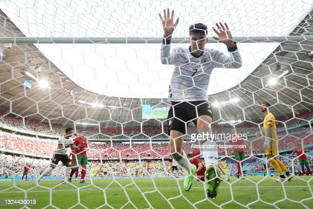 Kai Havertz of Germany reacts after scoring their side's third goal past Rui Patricio of Portugal during the UEFA Euro 2020 Championship Group F...