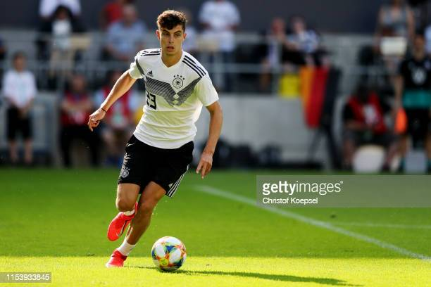 Kai Havertz runs with the ball during the Germany Internal Test Match at Tivoli Stadium on June 05 2019 in Aachen Germany
