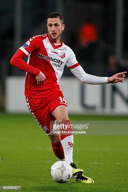 Kai Heerings of Utrecht in action during the Dutch Eredivisie match between FC Utrecht and NEC Nijmegen held at Stadion Galgenwaard on December 6...