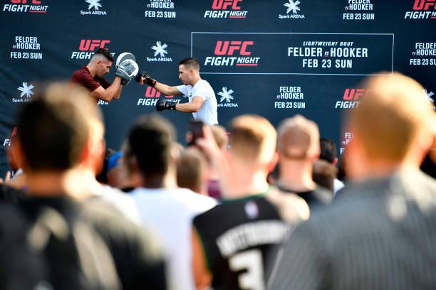 NZL: UFC Fight Night Felder v Hooker: Open Workouts