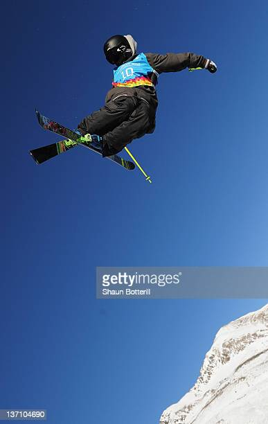 Kai Mahler of Switzerland during the Men's Freestyle Halfpipe Competion on January 15 2012 in Kuhtai Austria
