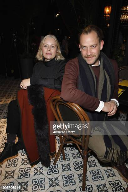 Kai Margrander and Kerstin Schneider attend the William Fan Defilee during 'Der Berliner Salon' AW 18/19 on January 18 2018 in Berlin Germany