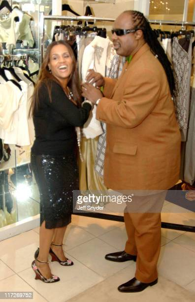 Kai Milla and husband Stevie Wonder during Stevie Wonder Attends His Wife Kai Milla's Fashion Show December 11 2005 at Saks Jandel in Washington DC...