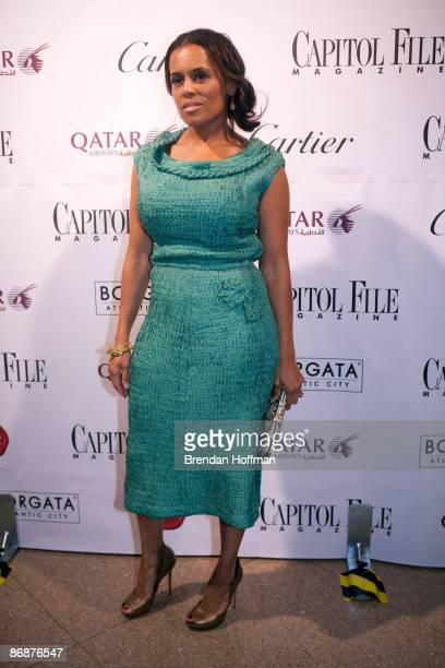 Kai Milla Morris wife of singer Stevie Wonder arrives at Capitol File's White House Correspondents' Association dinner after party on May 9 2009 in...