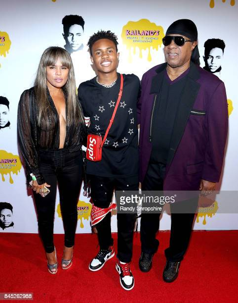 Kai Millard Morris Kailand Morris and Stevie Wonder attend Kailand's Swaggy 16th birthday party at Belasco Theatre on September 9 2017 in Los Angeles...