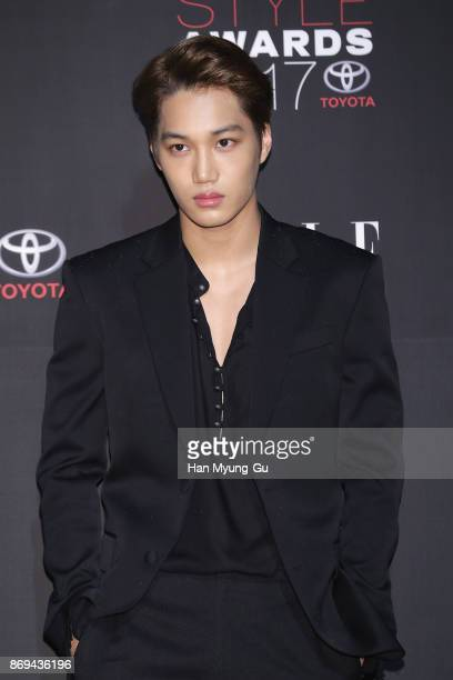 Kai of boy band EXOK attends the ELLE 25th Anniversary ELLE Style Awards on November 2 2017 in Seoul South Korea