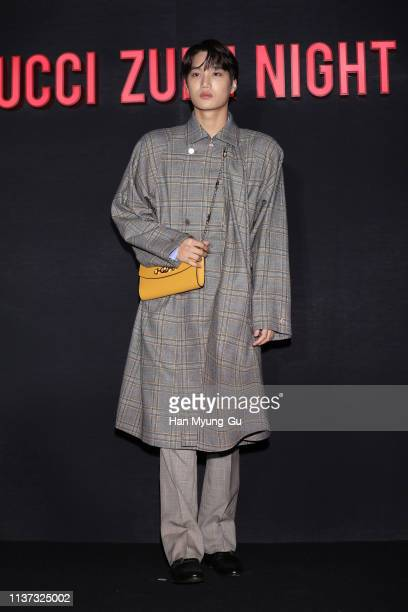 Kai of boy band EXOK attends the Photocall for Gucci 'Zumi' launch on March 21 2019 in Seoul South Korea