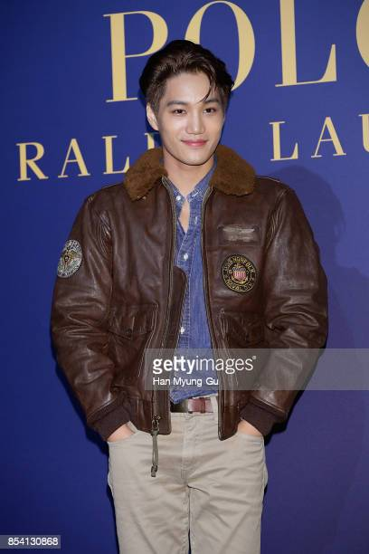 """Kai of boy band EXO-K attends the """"POLO RALPH LAUREN"""" Photocall on September 26, 2017 in Seoul, South Korea."""