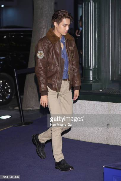 Kai of boy band EXOK attends the POLO RALPH LAUREN Photocall on September 26 2017 in Seoul South Korea