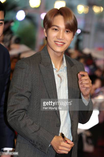Kai of South Korean boy band EXOK attends Netflix's 'Stranger Things 3' Seoul Premiere on June 20 2019 in Seoul South Korea The drama will open on...