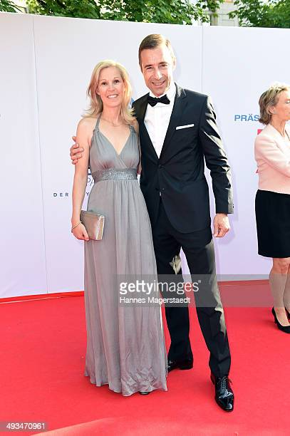 Kai Pflaume and his wife Ilke attend the 'Bayerischer Fernsehpreis 2014' at Prinzregententheater on May 23 2014 in Munich Germany