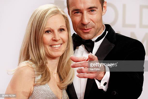 Kai Pflaume and his wife Ilke Pflaume attend the Goldene Kamera 2016 on February 6 2016 in Hamburg Germany