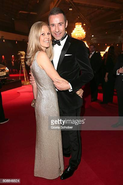 Kai Pflaume and his wife Ilke Pflaume during the Goldene Kamera 2016 reception on February 6 2016 in Hamburg Germany