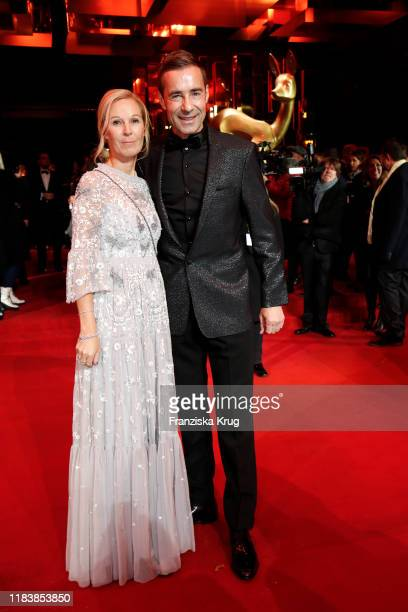 Kai Pflaume and his wife Ilke Pflaume during the MercedesBenz AG at BAMBI 2019 at Festspielhaus BadenBaden on November 21 2019 in BadenBaden Germany